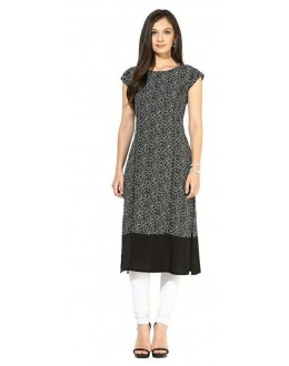 Casual Wear Readymade Grey Crape Kurti - 103