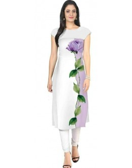 Party Wear Readymade White Crape Kurti - 101