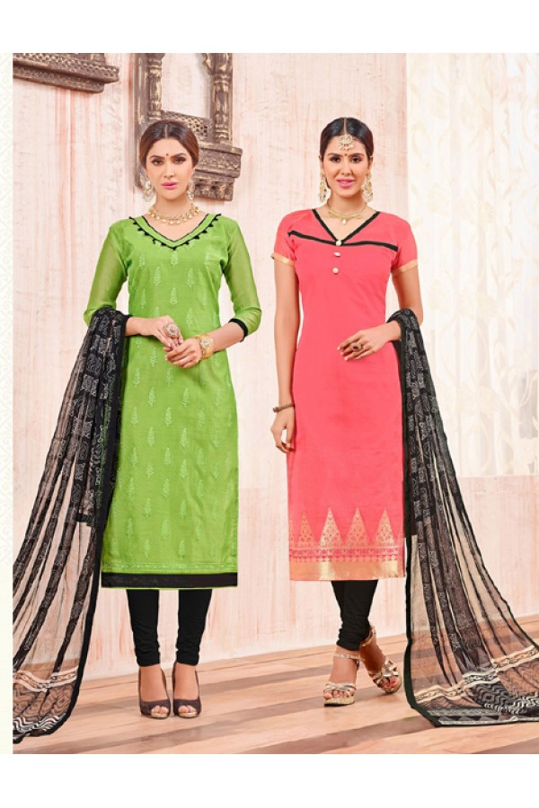 Salwar Suit With Two Top & One Bottom - 454