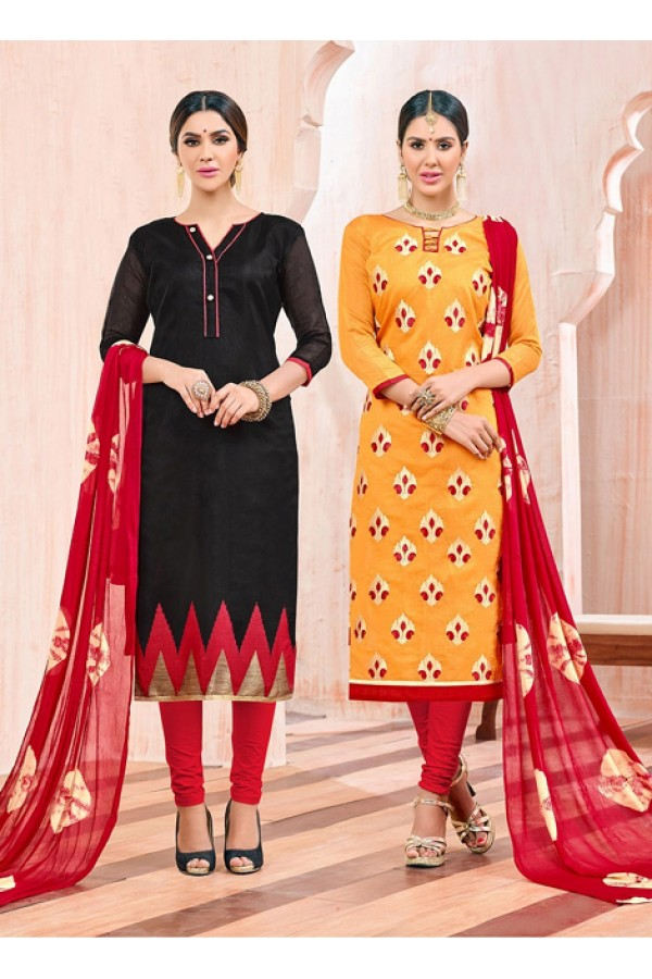 Salwar Suit With Two Top & One Bottom - 458