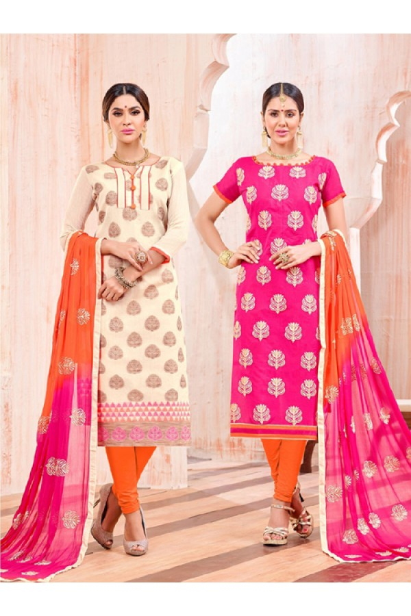 Salwar Suit With Two Top & One Bottom - 462
