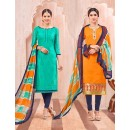 Salwar Suit With Two Top & One Bottom - 463