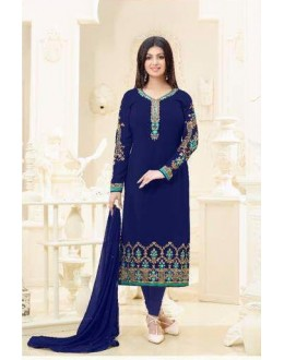 Ayesha Takia In Blue Georgette Salwar Suit  - 2232
