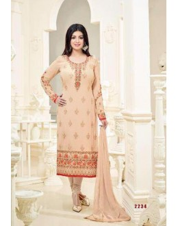 Ayesha Takia In Cream Georgette Salwar Suit  - 2234