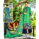 Ethnic Wear Green Cotton Palazzo Suit - 698
