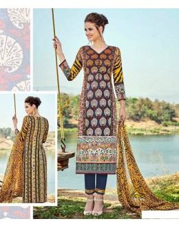Festival Wear Multi-Colour Cotton Salwar Suit - 704