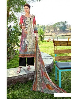 Office Wear Multi-Colour Cotton Palazzo Suit - 708