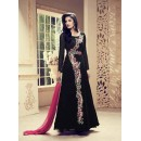 Party Wear Black Faux Georgette Anarkali Suit - 1008
