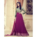 Ethnic Wear Pink Faux Georgette Anarkali Suit - 1010