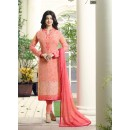 Ayesha Takia In Peach Georgette Salwar Suit  - 305