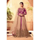 Party Wear Multi-Colour Net Slit Salwar Suit - 4504