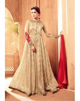 Ethnic Wear Beige Viscose Anarkali Suit - 4507
