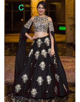Bollywood Inspired - Wedding Wear Raw Silk Crop Top Lehenga - 9118-C