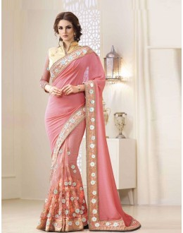 Bollywood Inspired - Festival Wear Light Pink Saree  - 1554