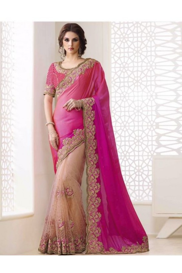 Bollywood Inspired - Festival Wear Multi-Colour Saree  - 1557