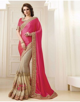 Bollywood Inspired - Georgette Half & Half Saree  - 1566