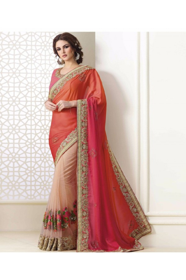 Bollywood Inspired - Party Wear Multi-Colour Saree  - 1567