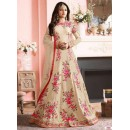 Festival Wear Off White Banglori Silk Anarkali Suit  - 7002-B