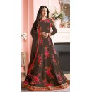 Wedding Wear Brown Banglori Silk Anarkali Suit  - 7002-A