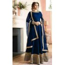 Festival Wear Navy Blue Pure Banglori Anarkali Suit  - 7003-02