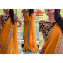 Bollywood Replica - Party Wear Orange Saree - 9683-C