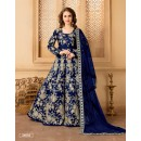 Festival Wear Blue Taffeta Silk Anarkali Suit - 24003