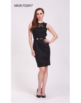 Party Wear Readymade Black Skater Dress - 3917