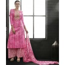 Party Wear Pink Satin Cotton Salwar Suit - 7605