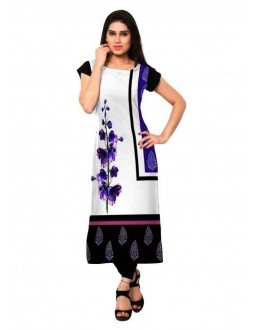Office Wear Readymade White Crepe Kurti - 162