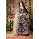 Party Wear Black Banglori Silk Anarkali Suit  - 20001