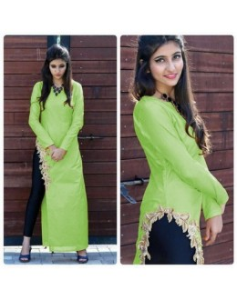 Bollywood Inspired- Designer Green Fancy Kurti - Apple Kurti-02