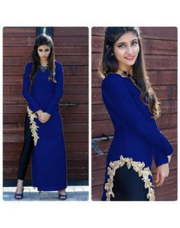 Bollywood Inspired- Designer Navy Blue Fancy Kurti - Apple Kurti-03