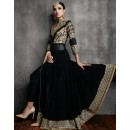 Designer Style Black Georgette Anarkali Suit - 11003-E