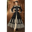 Traditional Black Georgette Anarkali Suit - 12028