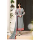 Ayesha Takia In Grey Georgette Salwar Suit  - 204