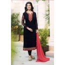 Ayesha Takia In Black Georgette Salwar Suit  - 207