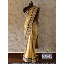 Bollywood Replica - Wedding Wear Beige Saree - NX-45