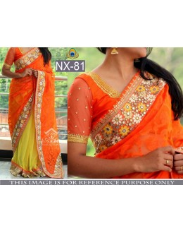 Bollywood Replica- Wedding Wear Orange & Yellow Saree - NX-81