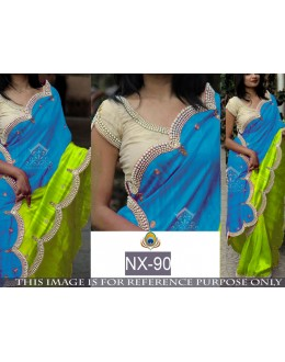 Bollywood Replica - Ethnic Wear Blue & Green Saree - NX-90