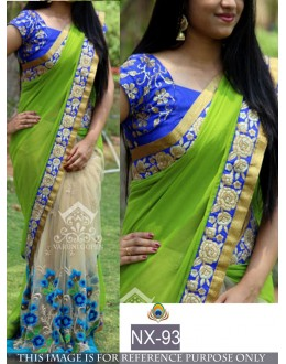 Bollywood Replica - Wedding Wear Green & Beige Saree - NX-93