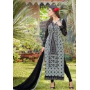 Party Wear Black & Grey Georgette Salwar Suit - 1019