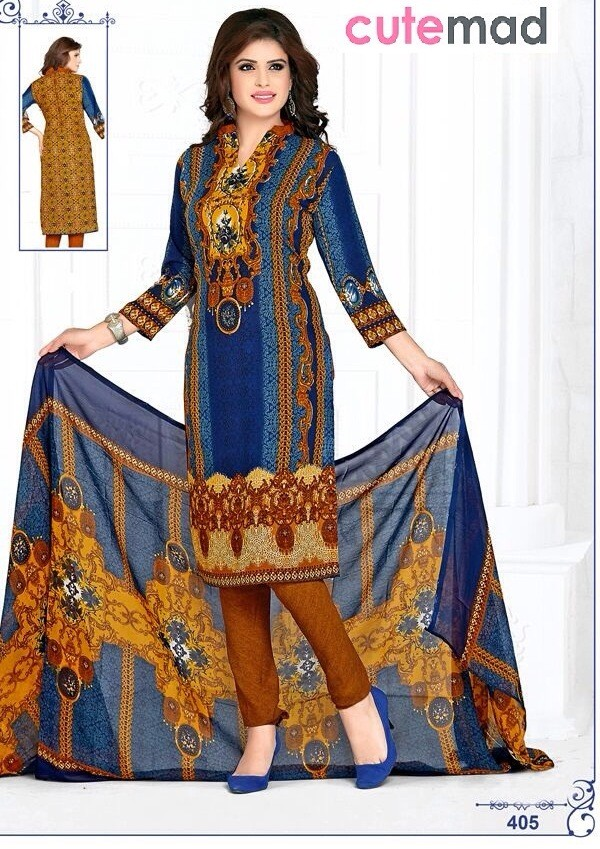 Festival Wear Multi-Colour Cotton Salwar Suit  - 405