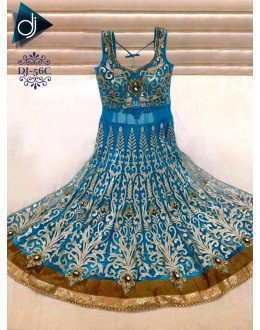 Bollywood Replica - Designer Sky Blue Anarkali Suit - DJ-56-2