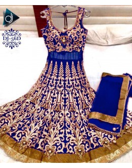 Bollywood Replica - Designer Blue Anarkali Suit - DJ-56-4
