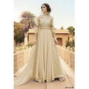 Wedding Wear Cream Georgette Anarkali Suit  - 7108 D