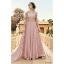 Festival Wear Pink Georgette Embroidery Anarkali Suit  - 7108 A