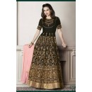 Party Wear Black Faux Georgette Anarkali Suit - G-1