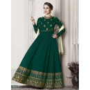 Ethnic Wear Green Faux Georgette Anarkali Suit - G-2