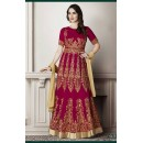 Wedding Wear Magenta Faux Georgette Anarkali Suit - G-3