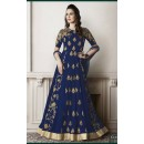 Festival Wear Blue Faux Georgette Anarkali Suit - G-4